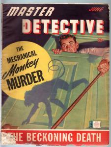 MASTER DETECTIVE JUN 1943-G-WILD HITLER STORY-MONKEY MURDER-PULP-TRUE CRIME G