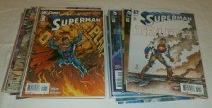 Superman V3 #1,2,25-29,32-39-50 2011 Perez Johns New 52, comic book lot of 31