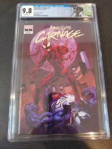 ABSOLUTE CARNAGE #1 CGC 9.8 SONNY'S COMICS EXCLUSIVE. MARK BAGLEY COVER.