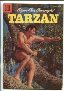 TARZAN #85-1956-DELL-GORDON SCOTT COVER- BURROUGHS- MARSH- MANNING-vg minus