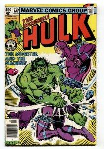 Incredible Hulk #235 Hulk VS. Machine Man battle cover-Comic Book vf+