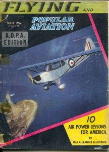 Flying 7/1941-Ziff-Davis-WWII era-aircraft pix & info-Sttatue of Liberty cove...