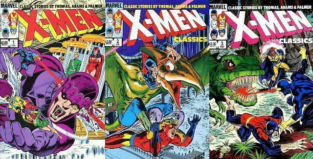 X MEN CLASSICS (1983-1984 BAXTER) 1-3  NEAL ADAMS