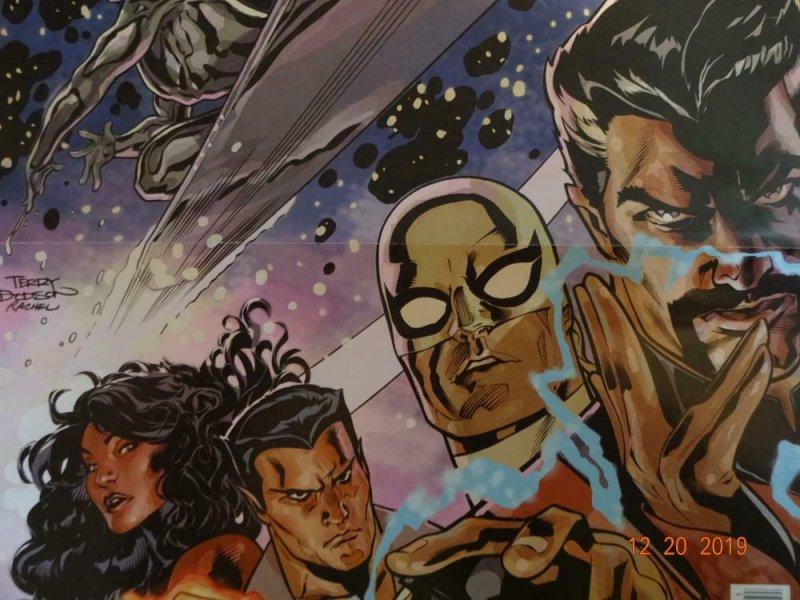 DEFENDERS BATTLE SCARS Promo Poster 10 x 13 2011 MARVEL Silver Surfer Dr Strange