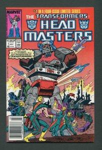 Transformers Headmaster #1  / 9.4 NM  Newsstand  July 1987