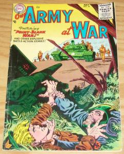Our Army At War #34 VG/FN may 1955 - golden age dc comics - point blank war