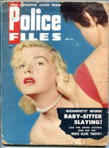 Police Files Magazine February 1955- Baby Sitter Slaying reading copy
