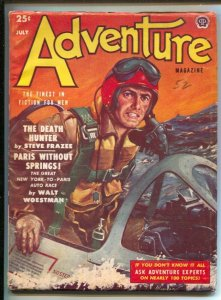 Adventure 7/1952-Popular-Monroe Eisenberg military aircraft crashes at sea co...