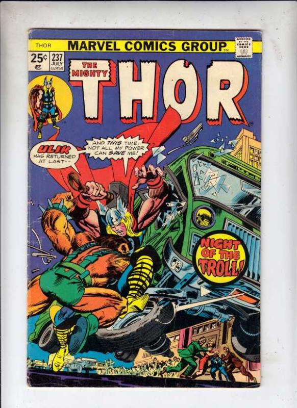 Thor, the Mighty #237 (Jul-75) VG/FN+ Mid-Grade Thor
