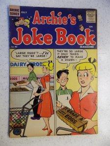 ARCHIE'S JOKE BOOK # 41 ARCHIE JUGHEAD VERONICA BETTY RIVERDALE CARTOON