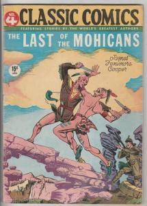 Classic Comics #4 (Jun-44) VG+ Affordable-Grade Hawkeye, Alice, Cora, Heywood