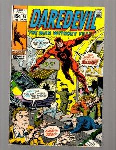 Daredevil # 74 VF Marvel Comic Book Defenders Avengers Hulk Thor Iron Man JK7