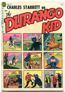 Durgango Kid #27 1954- Golden Age Western- Fred Guardineer VG
