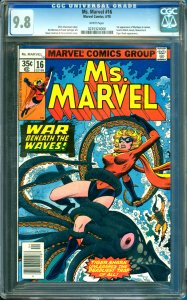 Ms. Marvel #16 CGC Graded 9.8 1st Appearance of Mystique in cameo
