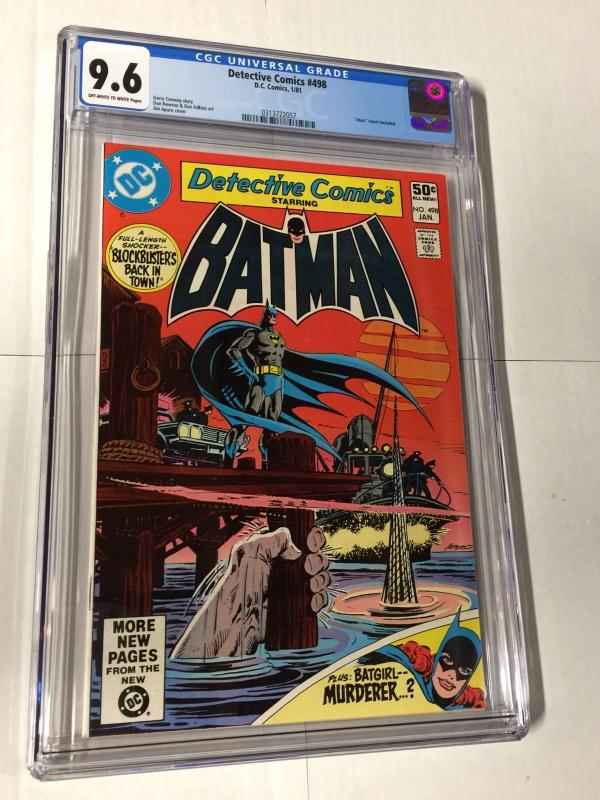 Detective Comics 498 Cgc 9.6 Ow/w Pages