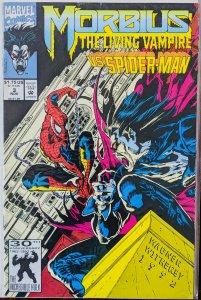 Morbius: The Living Vampire #3 (1992) SPIDERMAN ISSUE!