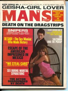 Man's Magazine 10/1969-Richard Petty-cheesecake-exploitation-De Sade-spicy pulp-