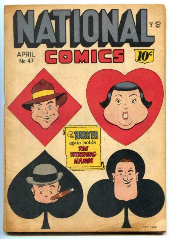 National Comics #47 1945- Jack Cole cover- incomplete