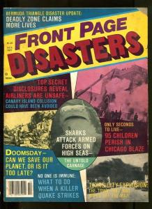 FRONT PAGE DISASTERS-10/1977-BERMUDA TRIANGLE-CANARY ISLAND-QUAKE-SHARK A G/VG