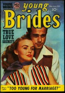 Young Brides #5 1953-Kirby Layouts- Prize Romance- Photo cover VF-