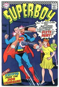 SUPERBOY #131 1966-DC COMICS-FISTS OF FURY KRYPTO ISSUE VG/FN