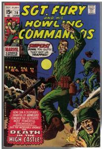 SERGEANT FURY 72 VG+ COMICS BOOK