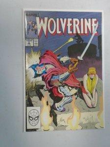 Wolverine #3 4.0 VG water damage (1989 1st Series)