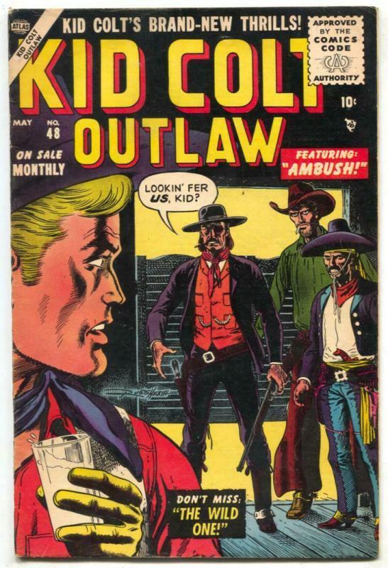 Kid Colt Outlaw #48 1955- Russ Heath cover- Atlas Western FN+