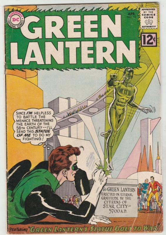 Green Lantern #12 (Apr-62) VG Affordable-Grade Green Lantern