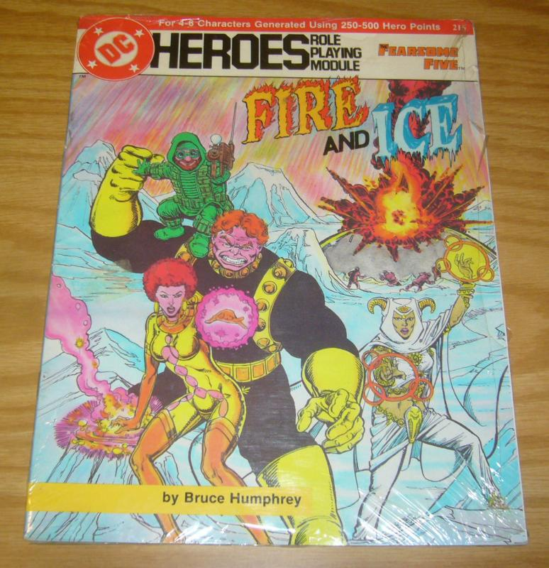 DC Heroes Role Playing Module: the Fearsome Five - Fire and Ice VF 215 RPG