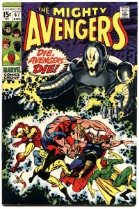 AVENGERS #67-1969-ULTRON COVER-HIGH GRADE-NICE!-MOVIE COMIC