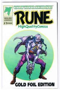 RUNE #1 GOLD, VF+, Ashcan, Promo, Barry Smith, Malibu, 1994, more in store