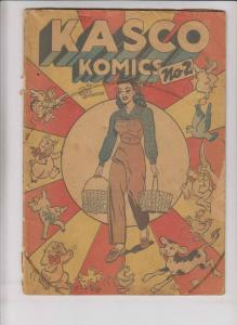 Kasco Komics #2 low grade - kasko grainfeed promo comic - bill woggon 1949