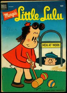 Marge's Little Lulu #63 1953- Dell humor Golden Age- Croquet cover VG/FN