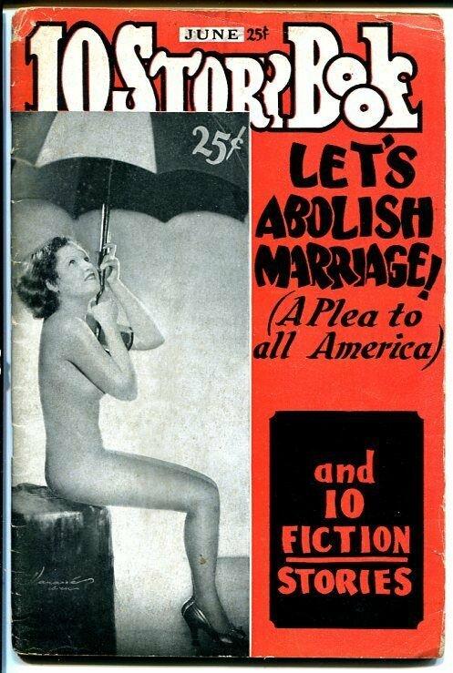10 STORY BOOK 1936 JUN-PULP-PIN-UPS-ABOLISH MARRIAGE fair