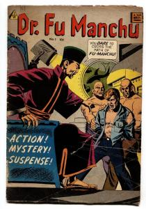 DR. FU MANCHU #1 VG 1963-IW-WALLY WOOD ART-Asian VILLAINS