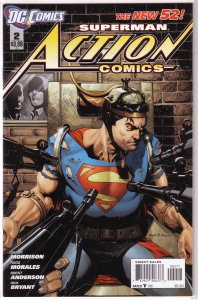Action Comics (vol. 2, 2011) #  2 VF (New 52) Morrison/Morales