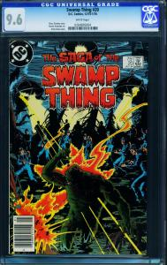 SAGA OF THE SWAMP THING #20-CGC 9.6 -newsstand ed 1st ALAN MOORE - 0264695004