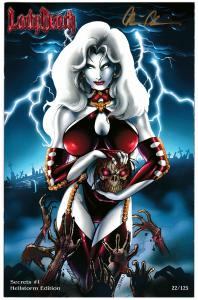 Lady Death Secrets #1 Hellstorm Edition Signed by Pulido #22/125 (2013) NM