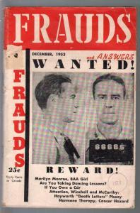 Frauds 12/1953-scams-exploitation-con games-burlesque-VG
