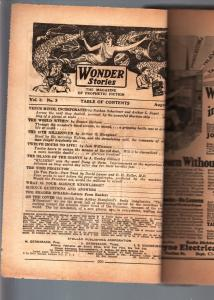 WONDER STORIES 1931 AUG-BARGAIN-SCI FI PULP FR