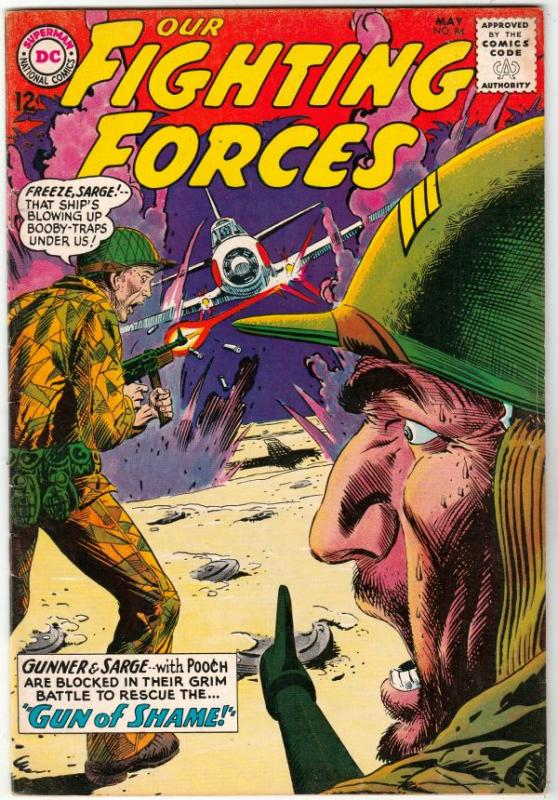 Our Fighting Forces #84 (May-64) FN/VF+ High-Grade Gunner and Sarge, Pooch