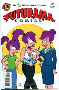 FUTURAMA #26, NM-, Bongo, Fry, Bender, Leela, 2000,Professor Farnsworth,Zoidberg