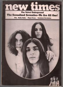New Times #1  4/1970-counter culture title-1st issue-Velvet Underground-VF