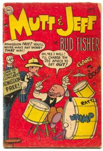 Mutt and Jeff #72  1954 Bud Fisher- Golden Age G