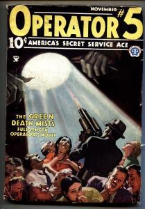 Operator #5 11/1934-Popular-hero pulp-Green Death Mists-Magazine