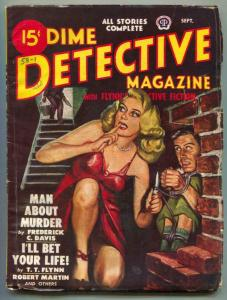 Dime Detective Pulp September 1948- headlight cover