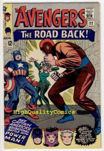 AVENGERS #22, FN, Captain America, Power Man, Wally Wood, Don Heck