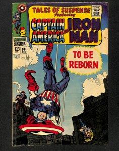 Tales Of Suspense #96 VG+ 4.5 Captain America Iron Man!
