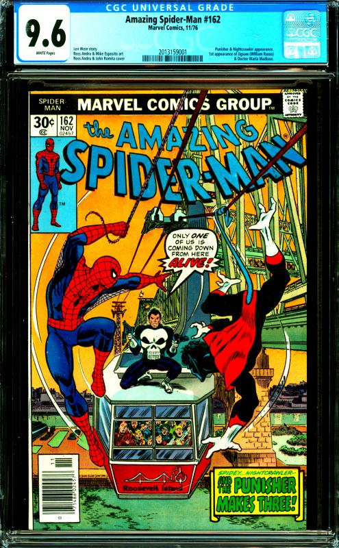 Amazing Spider-Man #162 CGC Graded 9.6 1st Appearance of Jigsaw